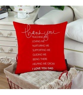 LOVE HEART DAD PRINTED pillow