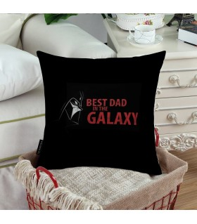 best dad in the galaxy printed pillow