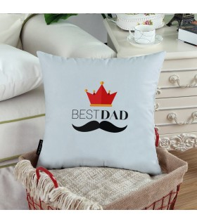 my dad is king printed pillow