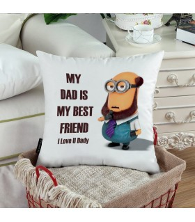 my daddy is the best friend i love you printed pillow