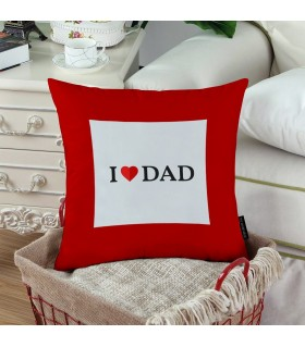 my heart my dad printed pillow