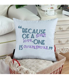 because of a great printed pillow