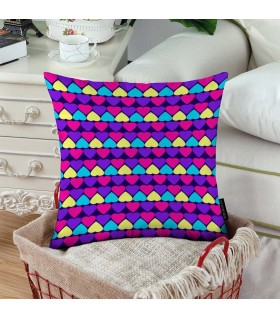 heart pattren printed pillow