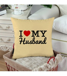 MY HEART FOR MY HUSBAND PRINTED Pillow