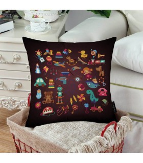 kids toys art printed pillow