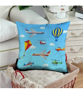 Air transports icons art printed pillow