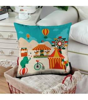 Circus art printed pillow