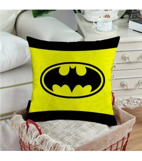 batman logo printed pillow