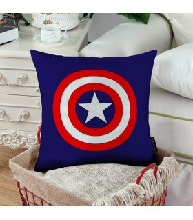 captain america shield printed pillow