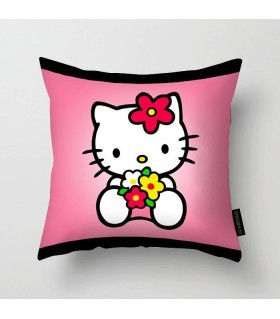 cute kitty printed pillow