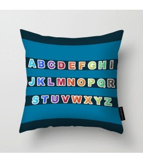 full abc art printed pillow