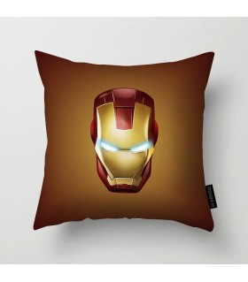 iron man mask printed pillow