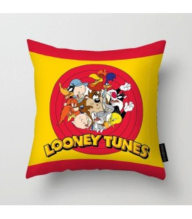looney toons family printed pillow