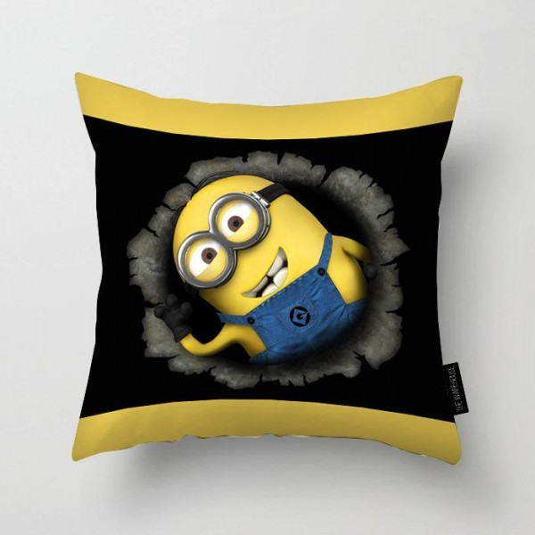 Minions Art Printed Pillow