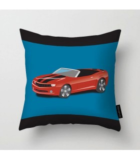 red Sports Car printed pillow