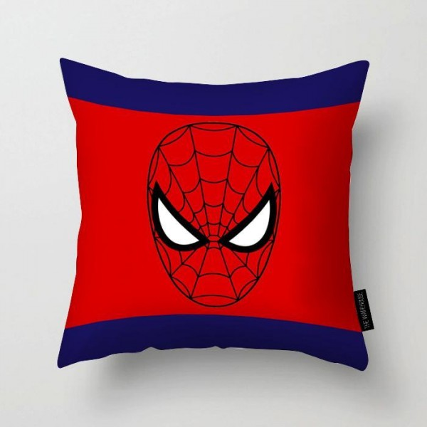 Spider-Man Mask Printed Pillow