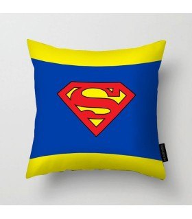 superman logo printed pillow