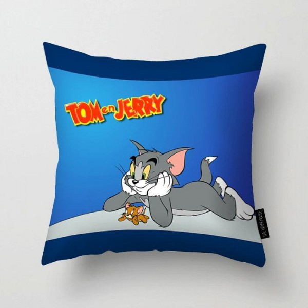 Tom Amd Jerry Printed Pillow