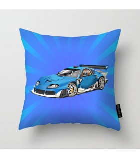 toyota racing car printed pillow