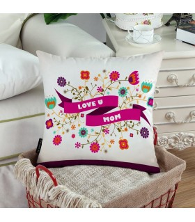 LOVE U MOM PRINTED pillow