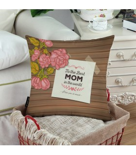 TO THE BEST MOM IN THE WORLD PRINTED Pillow