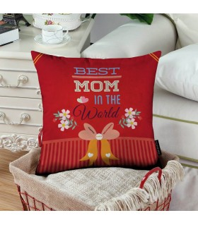 best mom in the world printed pillow
