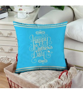 caligraphy happy mother day  printed pillow