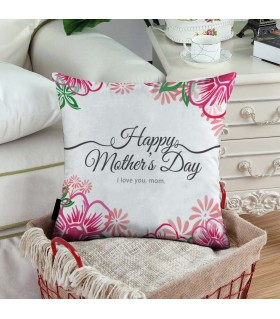 floral boarder happy mother day  printed pillow