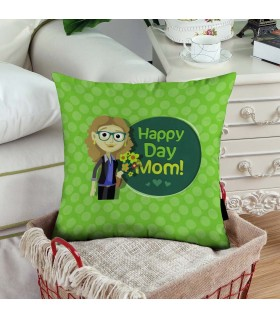 glasses mom happy mother day art printed pillow