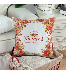 graphic art happy mother day  printed pillow