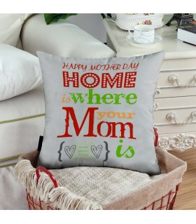 happy mother day  home art printed pillow