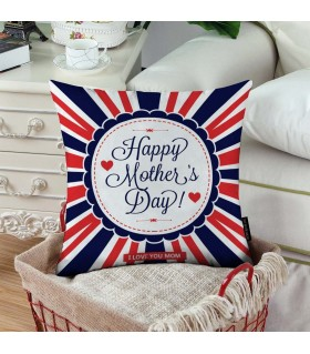 happy mother day striped  art printed  pillow