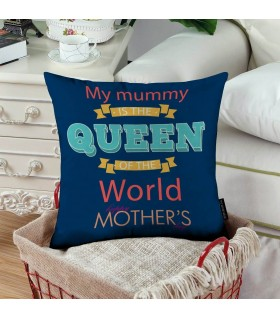 my mummy is the queen art printed pillow