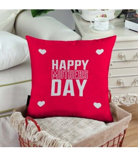 red art happy mother day prinetd pillow