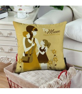 to mother vector  art printed pillow