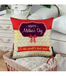to the world best mom art printed pillow