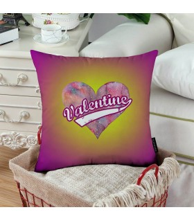 Cosmic Heart Valentine Printed Pillow