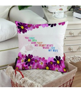 FAST HEARTBEAT PRINTED pillow