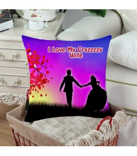 I LOVE MY CRAZY WIFE PRINTED Pillow