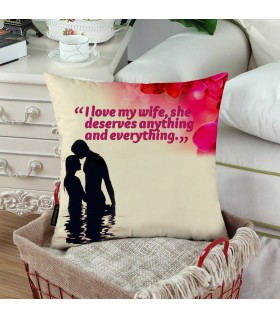 wife deserve every and any printed pillow