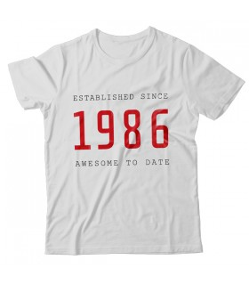 1986 PRINTED GRAPHIC T-SHIRT
