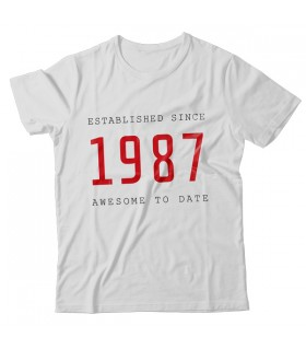 1987 PRINTED GRAPHIC T-SHIRT