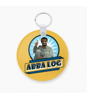 abba log art printed keychain