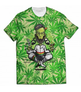 baba weed all over printed t-shirt
