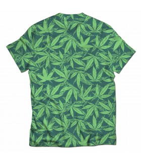 weed all over printed t-shirt