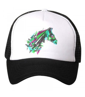 abstract horse art printed cap