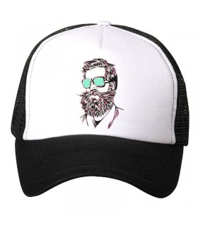 Bearded Man art printed cap