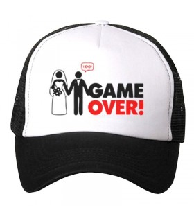game over art printed cap