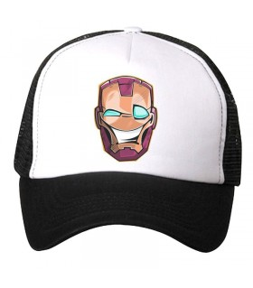 iron man art printed cap