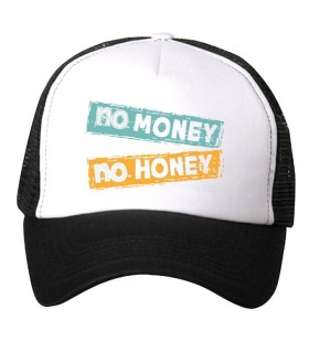 no money no honey art printed cap